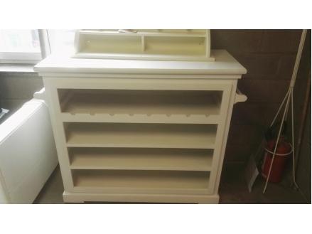 Petit meuble en bois blanc porte manteau - Petit meuble bois brut ...