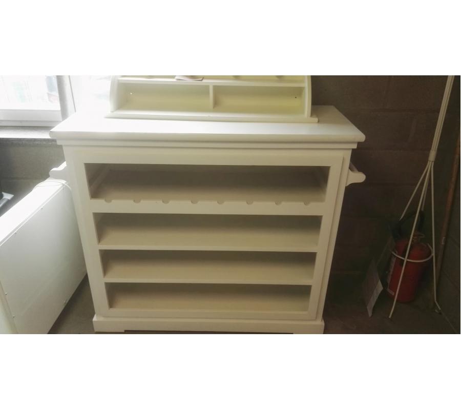 Petit meuble en bois blanc porte manteau for Petit meuble bois blanc