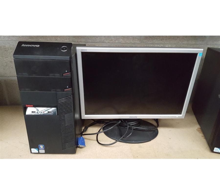 tour d 39 ordinateur lenovo thinkcentre 7515 avec cran. Black Bedroom Furniture Sets. Home Design Ideas