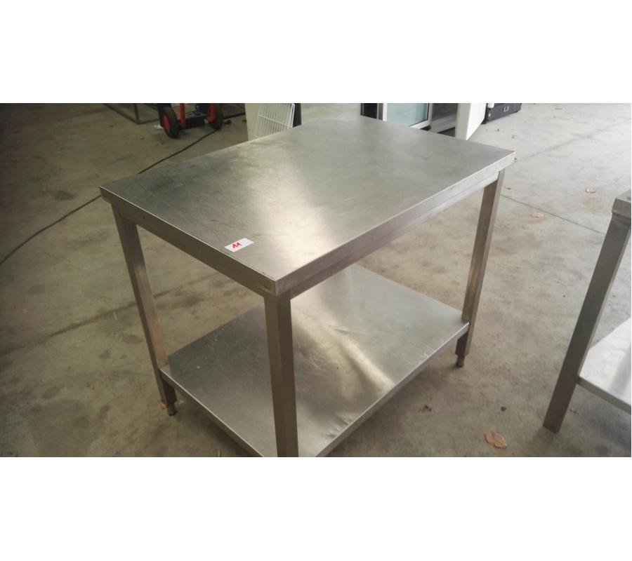Table en inox 2 niveaux 100x70 for Table 100x70