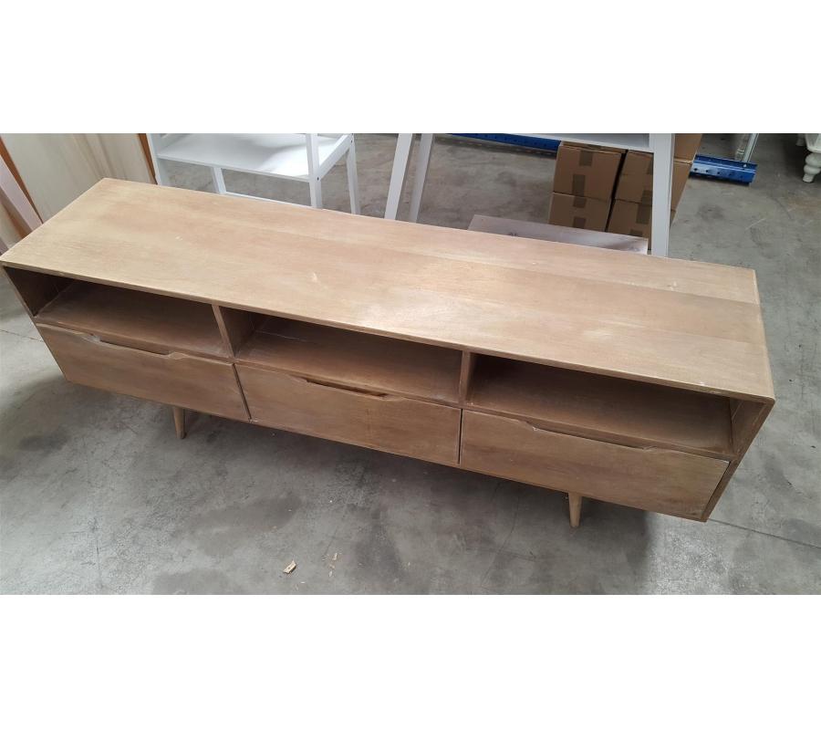 Petit meuble bas en bois 3 tiroirs for Petit meuble bas en bois