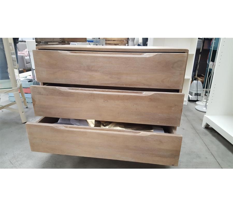 Meuble bois clair 3 tiroirs for Meuble bureau herstal