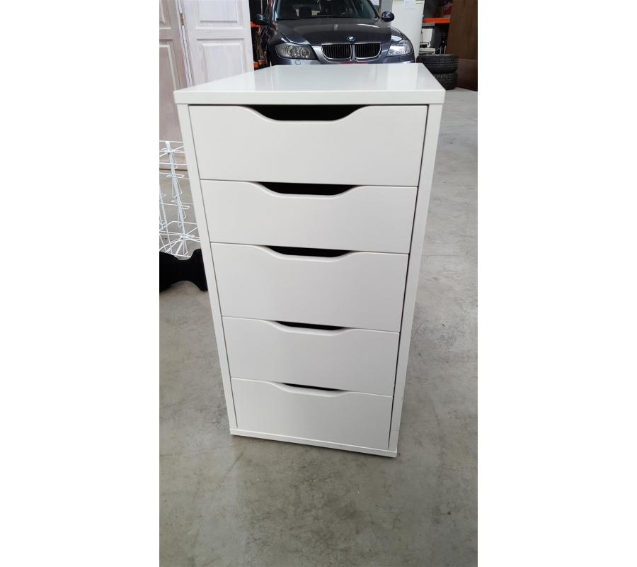 Petit meuble en bois 5 tiroirs for Petit meuble bois a tiroir