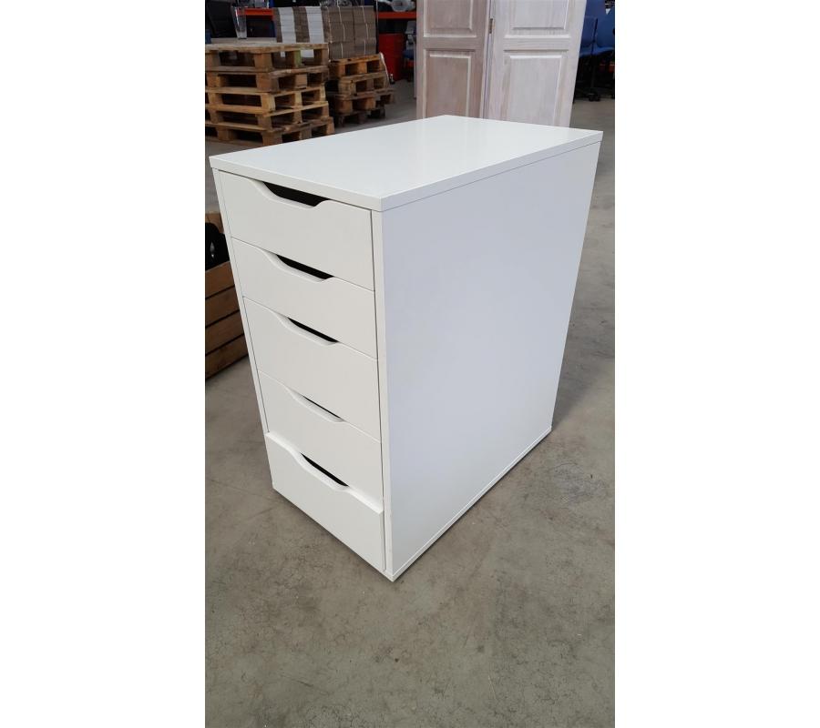 Petit meuble en bois 5 tiroirs - Petit meuble a tiroirs ...