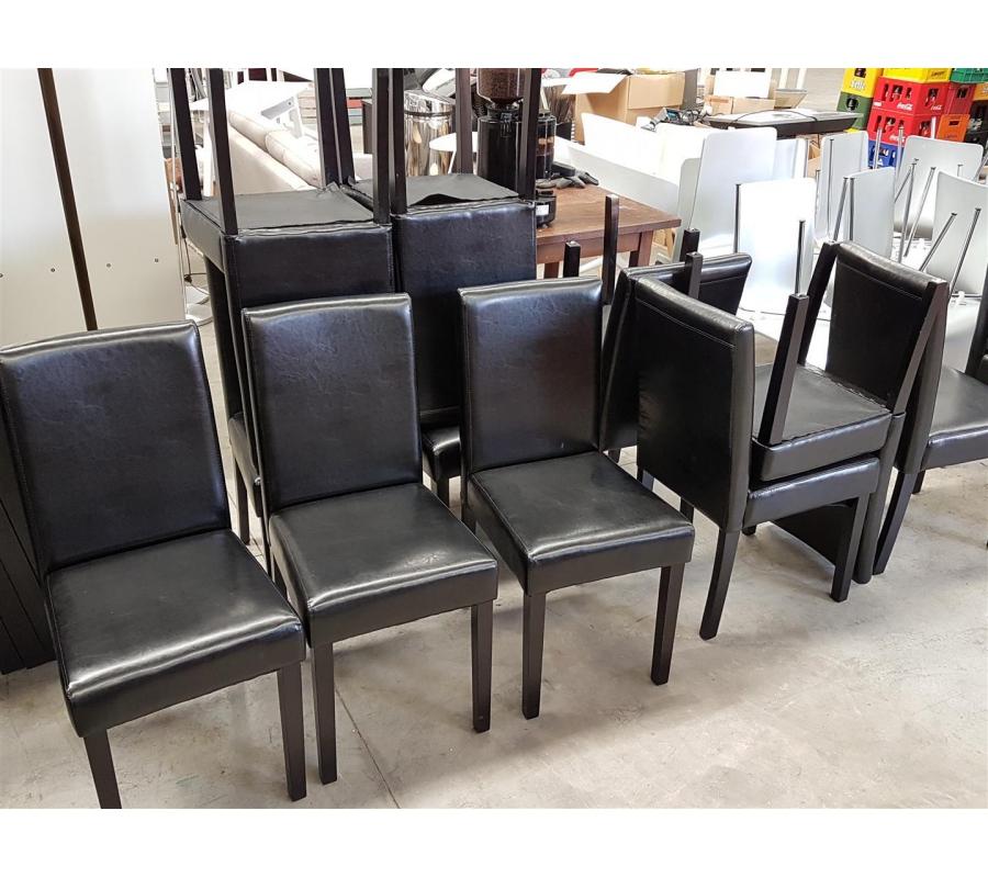 lot de 8 chaises en simili cuir ikea. Black Bedroom Furniture Sets. Home Design Ideas