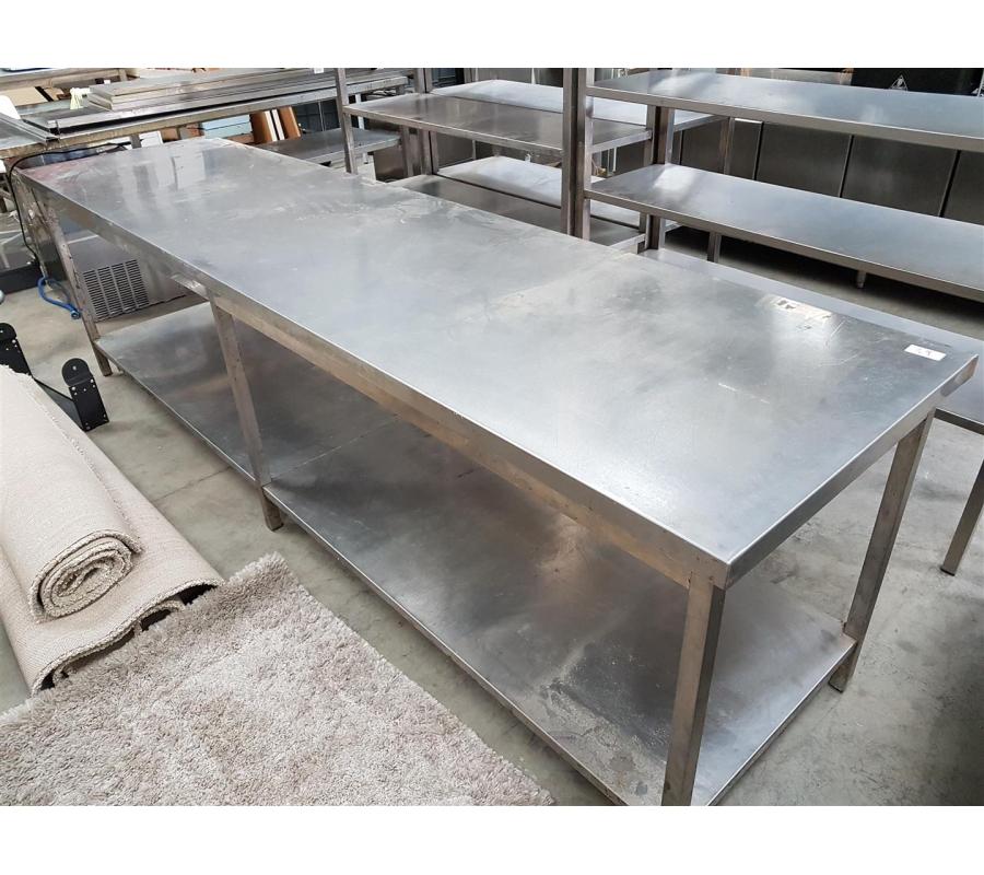 Tr s grande table en inox 2 niveaux - Tres grande table basse ...