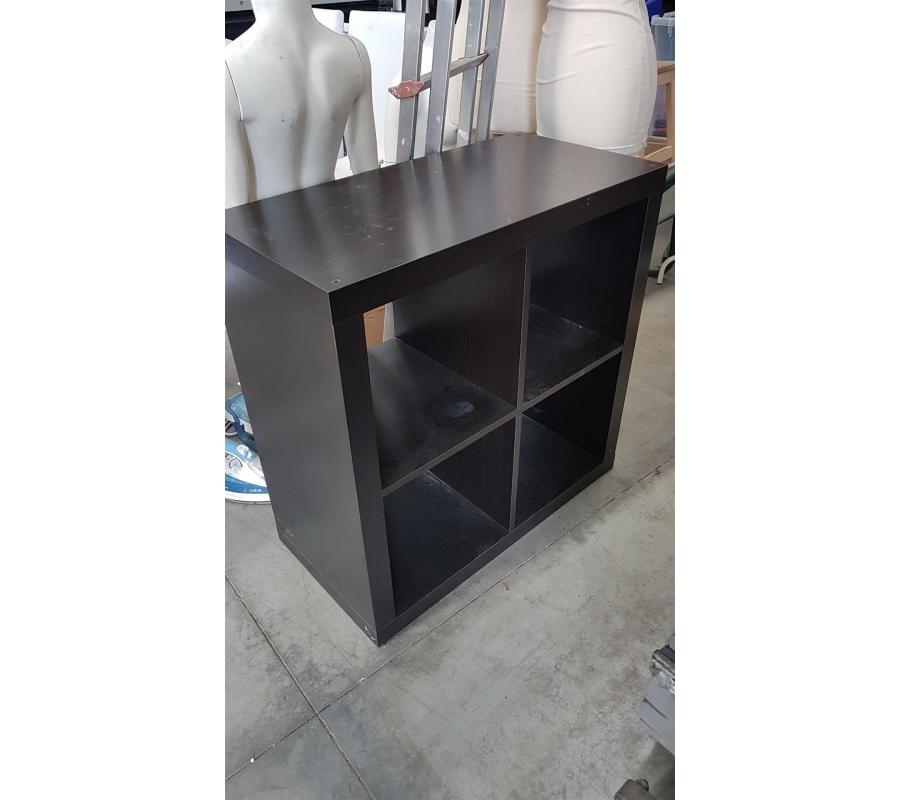 petit meuble ikea 4 cases en bois noir. Black Bedroom Furniture Sets. Home Design Ideas
