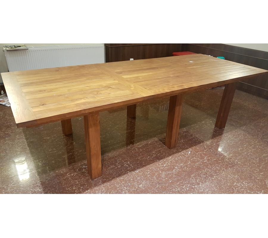 grande table rectangulaire 120x300cm. Black Bedroom Furniture Sets. Home Design Ideas