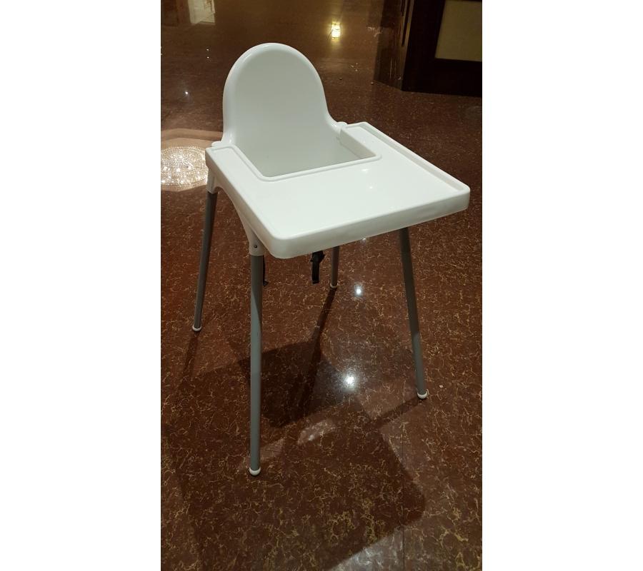chaise pour b b en plastique blanc et pieds m tallique. Black Bedroom Furniture Sets. Home Design Ideas